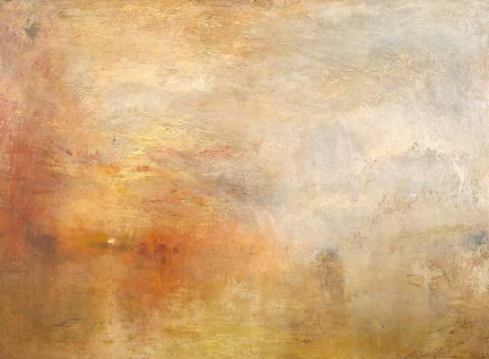 Sun Setting over a Lake circa 1840 by Joseph Mallord William Turner 1775-1851